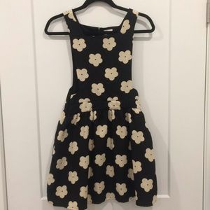 Cute flower black dress